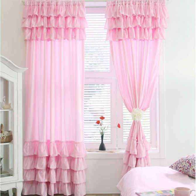 White Ruffle Curtain