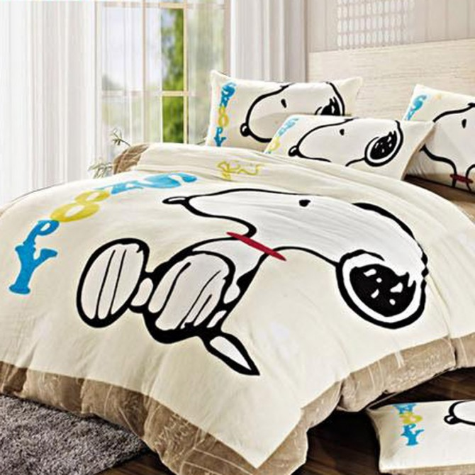Curtains Ideas snoopy shower curtain : Home —— Snoopy Duvet Cover Set, Beige