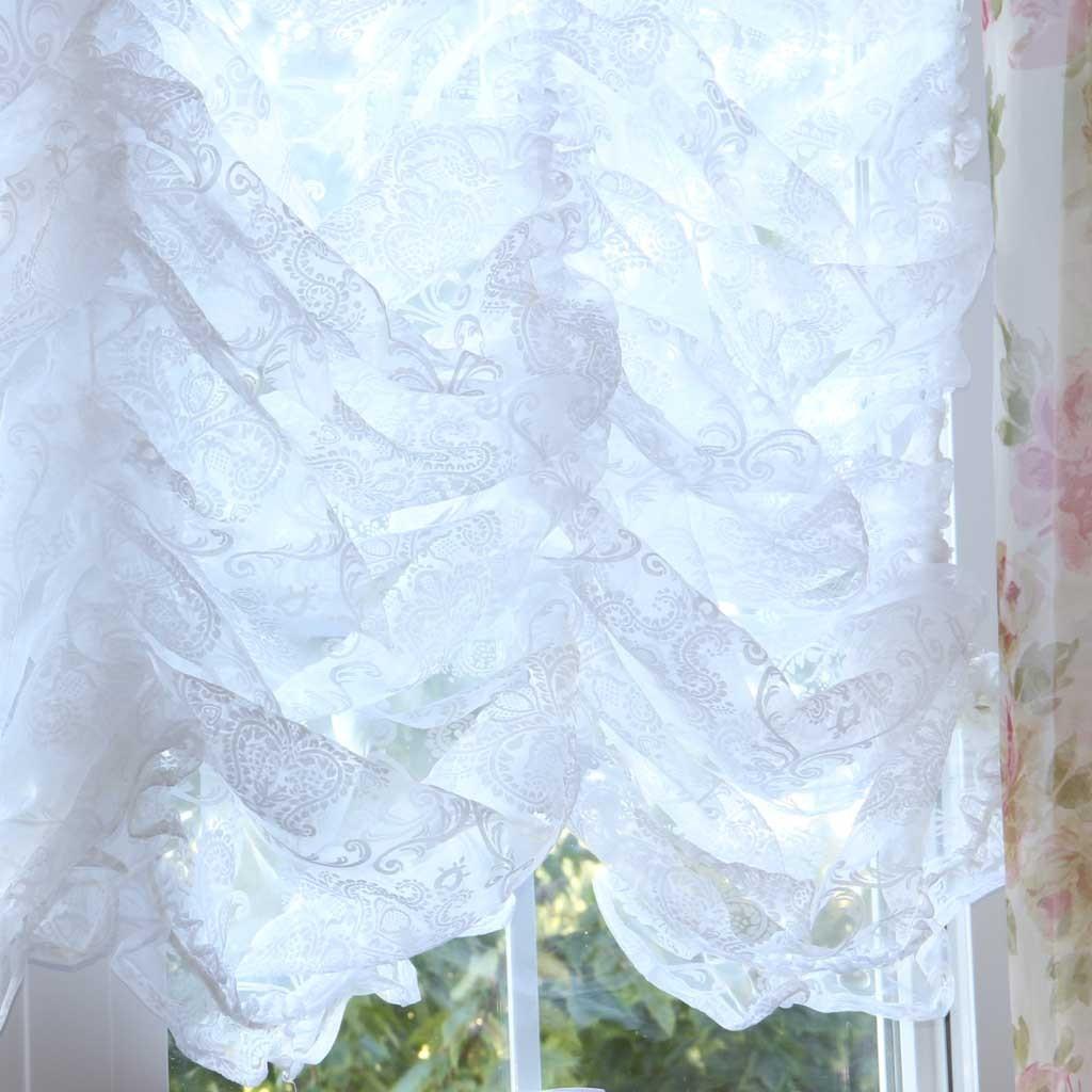 Curtains Ideas damask curtain : Home —— Damask Balloon Lace Curtain