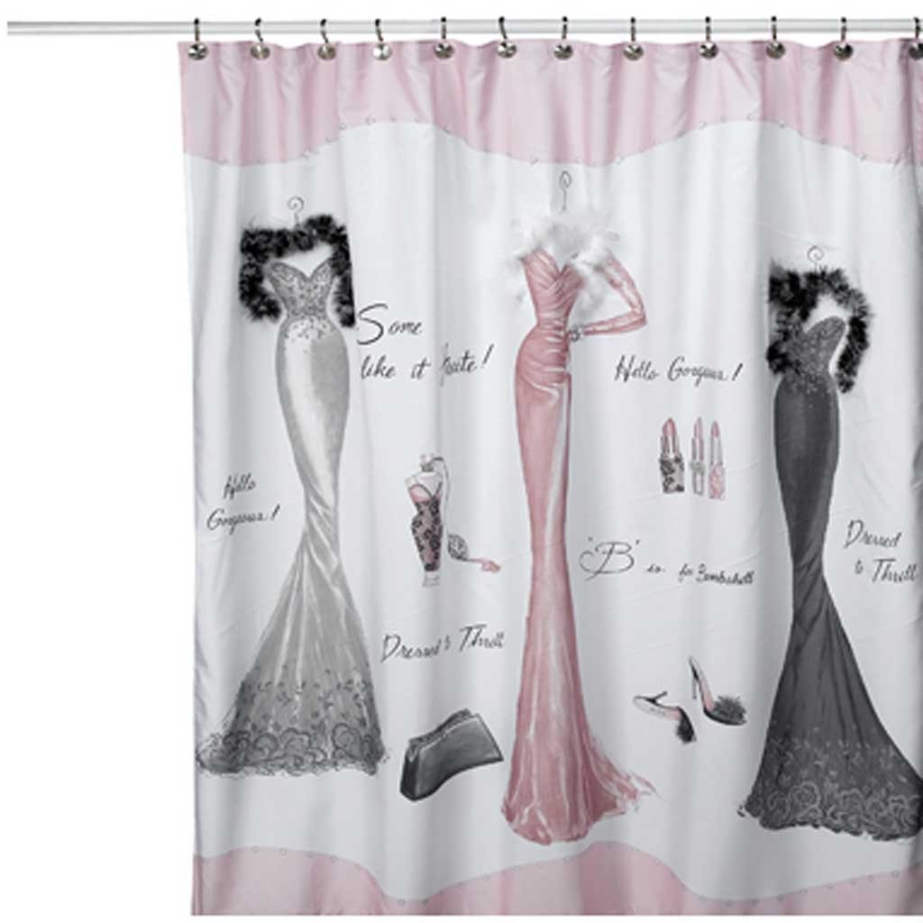 Cortinas De Baño Bed Bath And Beyond:Dress to Thrill Shower Curtain