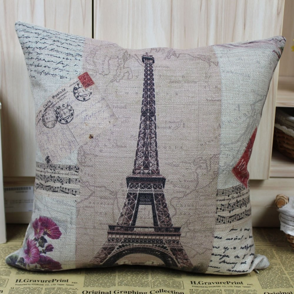 France paris eiffel tower music sheet cushion cover - How to decorate a paris themed bedroom ...