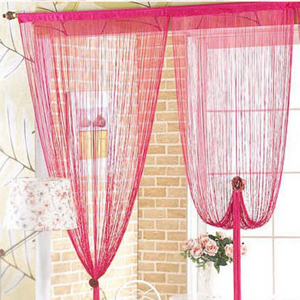 Fuschia String Curtain