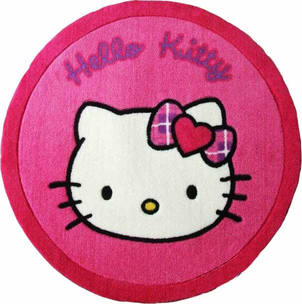 Home hello kitty face round rug