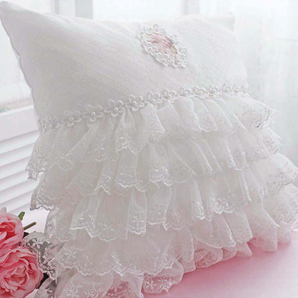 Lace cushion : lace ruffle cushion 31 from lovely-decor.com size 1024 x 1024 jpeg 102kB