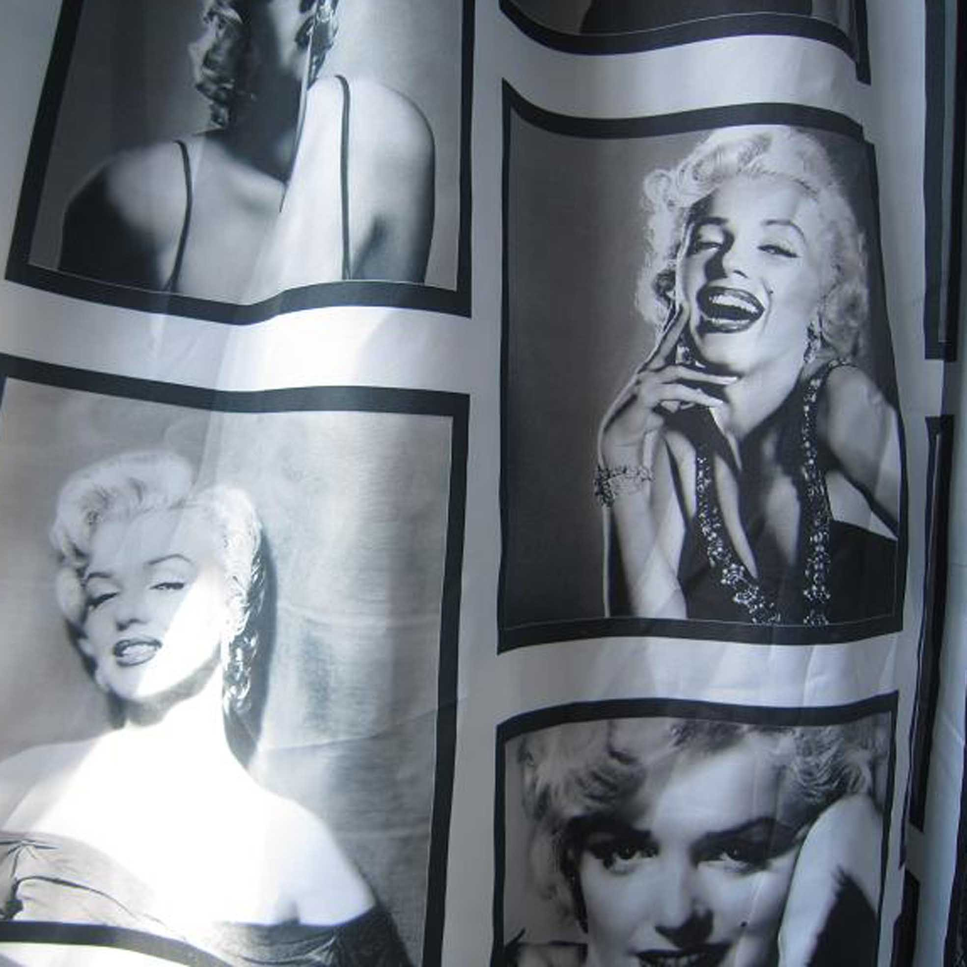 Marilyn Monroe Waterproof Fabric Shower Curtain