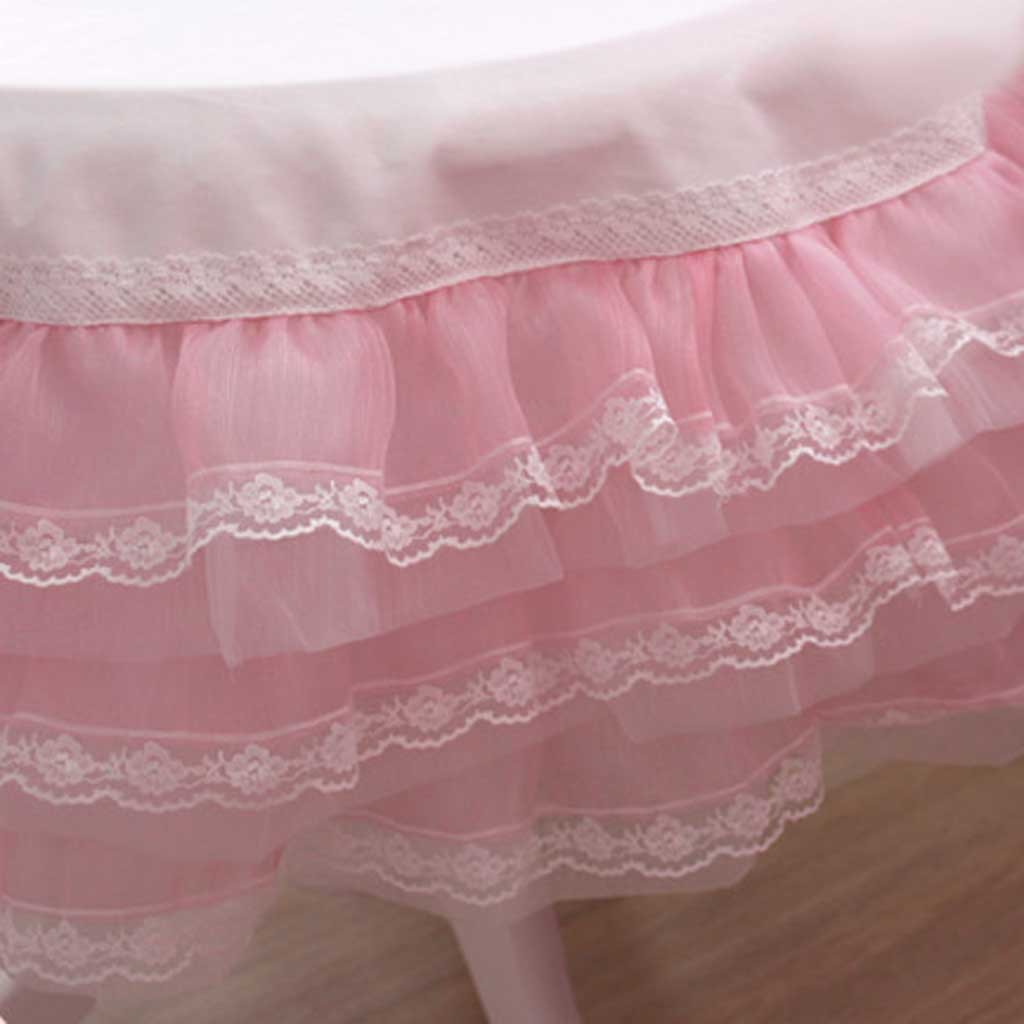 Pink Organza Ruffle Lace Tablecloth 2 X 2