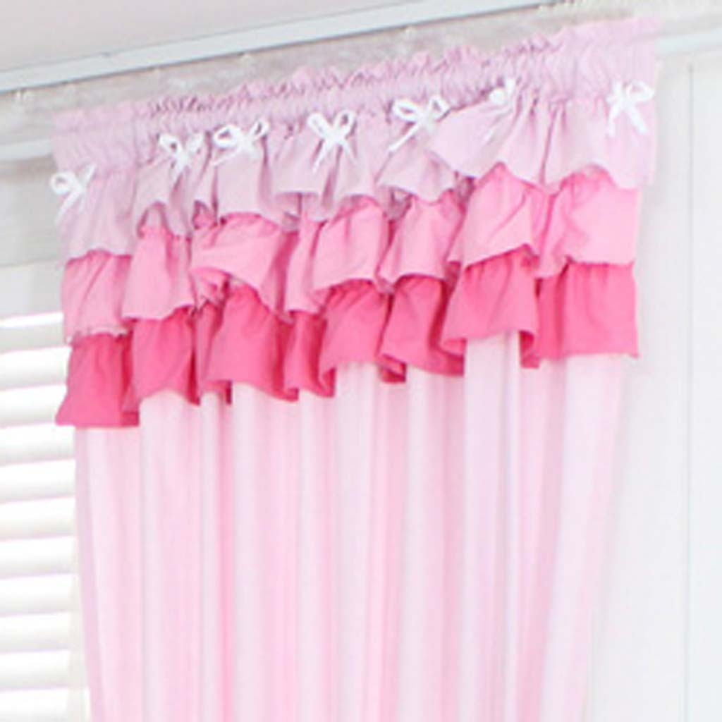 Pink And Green Nursery Curtains Cat Blackout Curtains