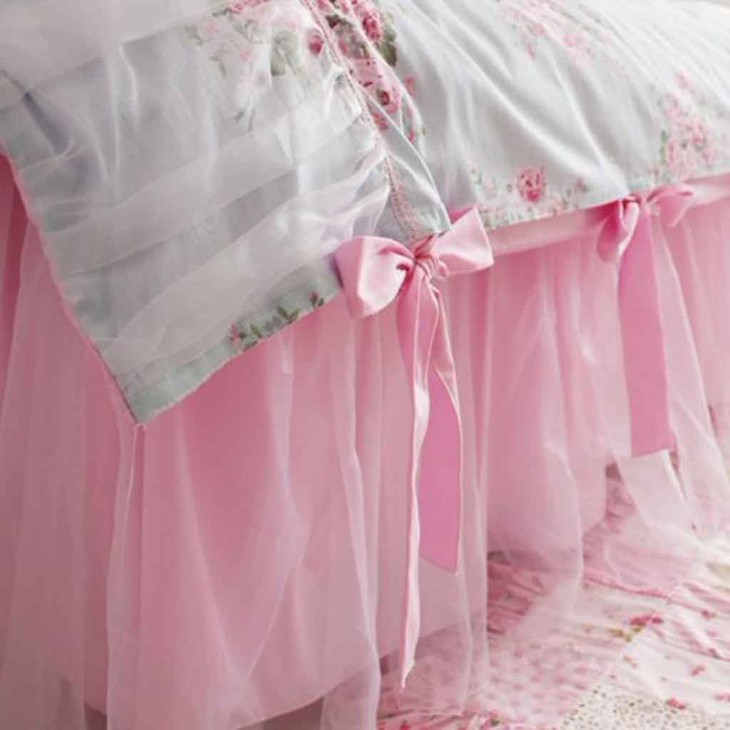 Pink Bed Skirt
