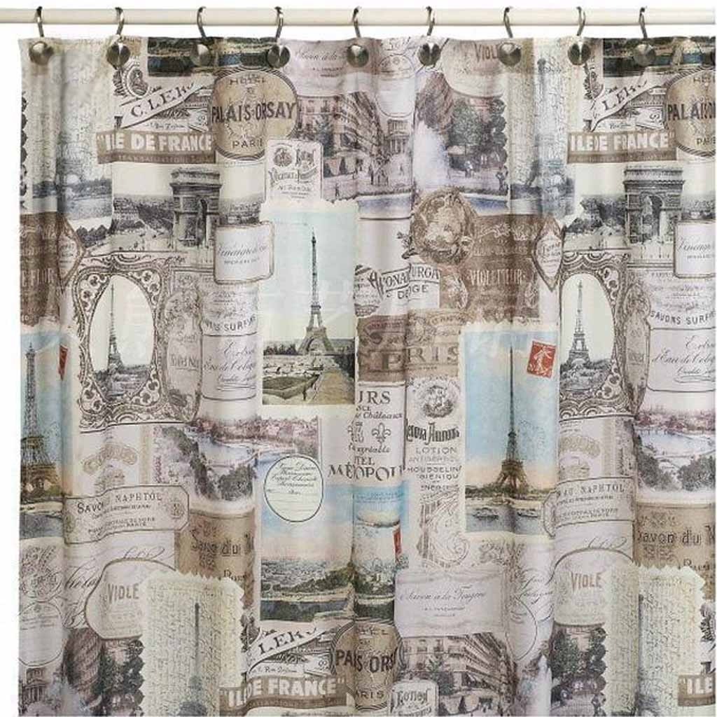 Home —— Vintage Paris Shower Curtain