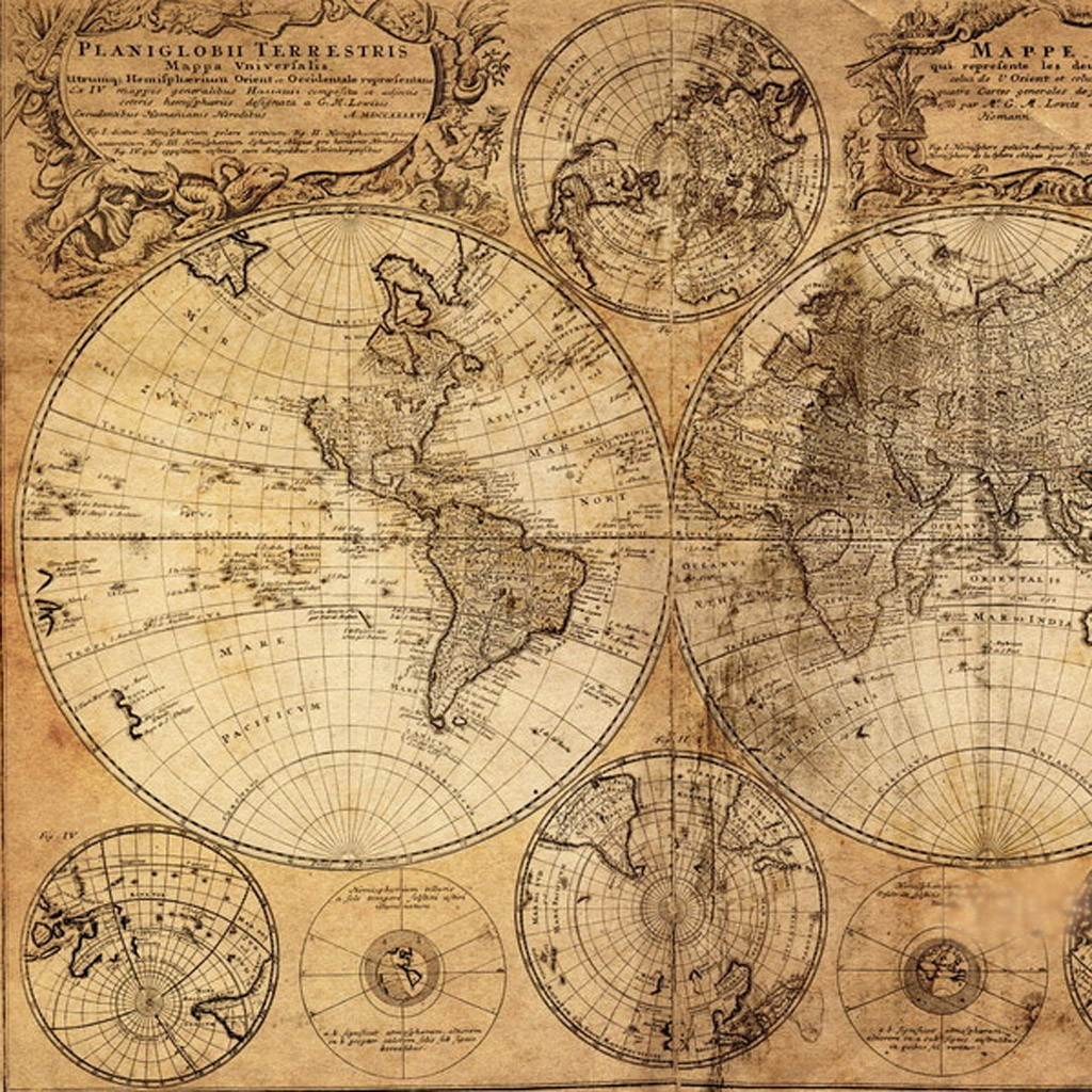 Epic image with regard to vintage map printable