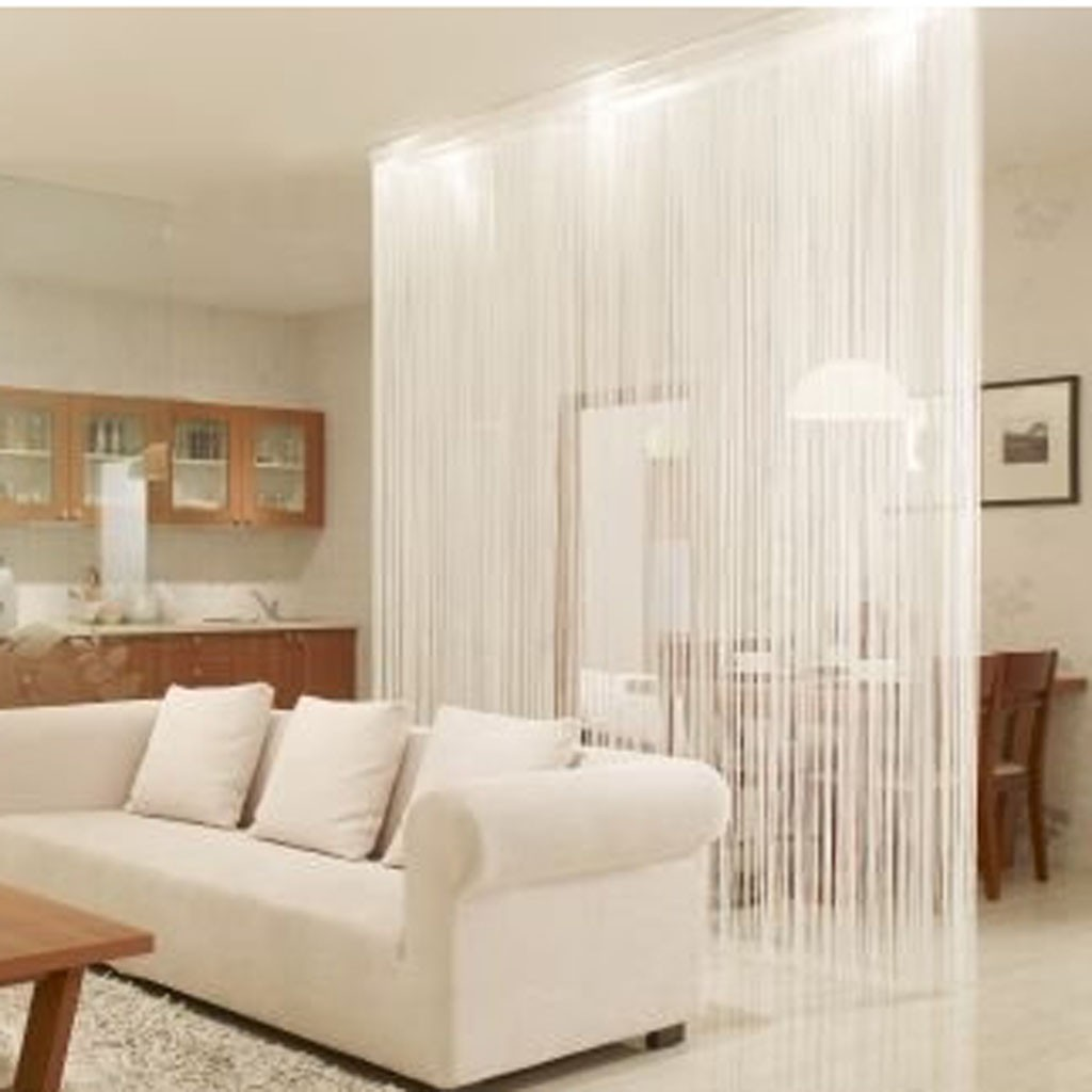 Home —— White String Curtain Panel