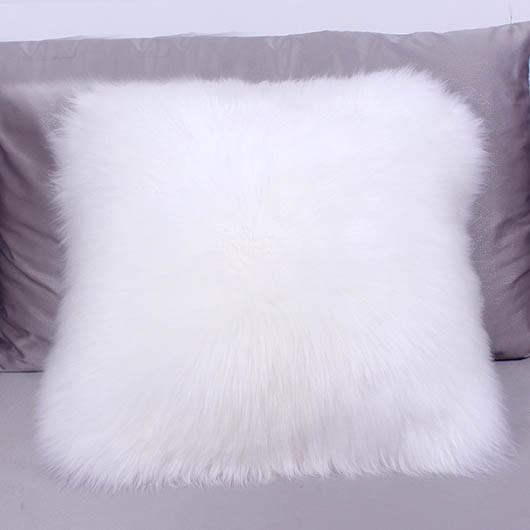Fur Throw Pillow Covers : sheepskin pillow