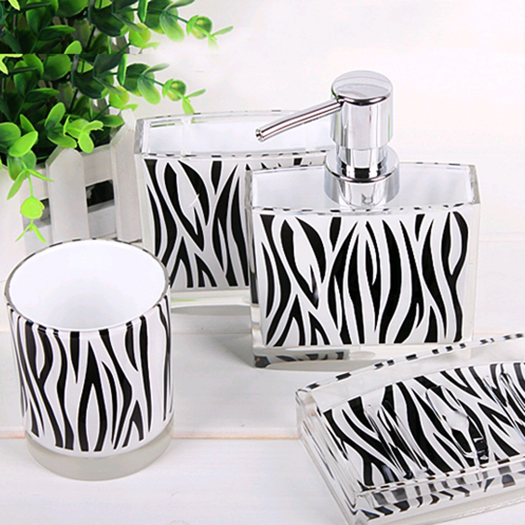 zebra bathroom set