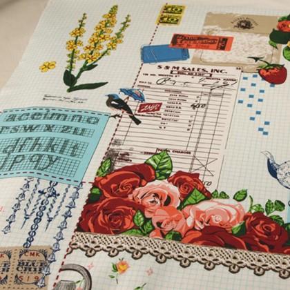 Vintage Fabric Bird 104