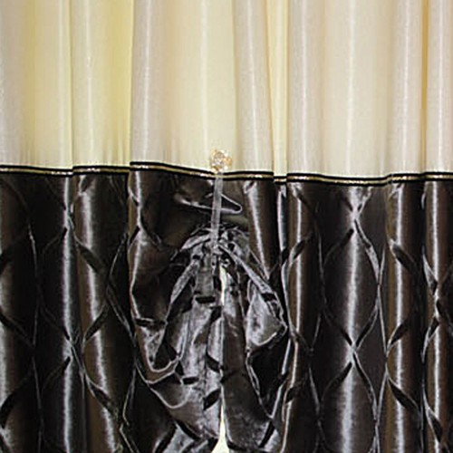 Magnetic Curtain Holdbacks Light Yellow