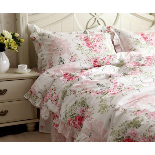 Pink Rose Bedding Set