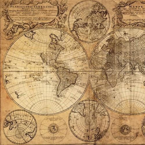 Breathtaking image throughout vintage world map printable