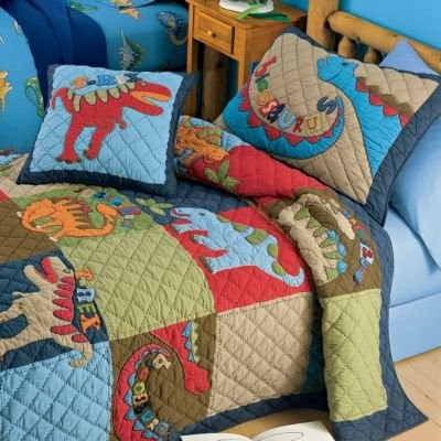 Dinosaur bedding for Bedroom quilt ideas