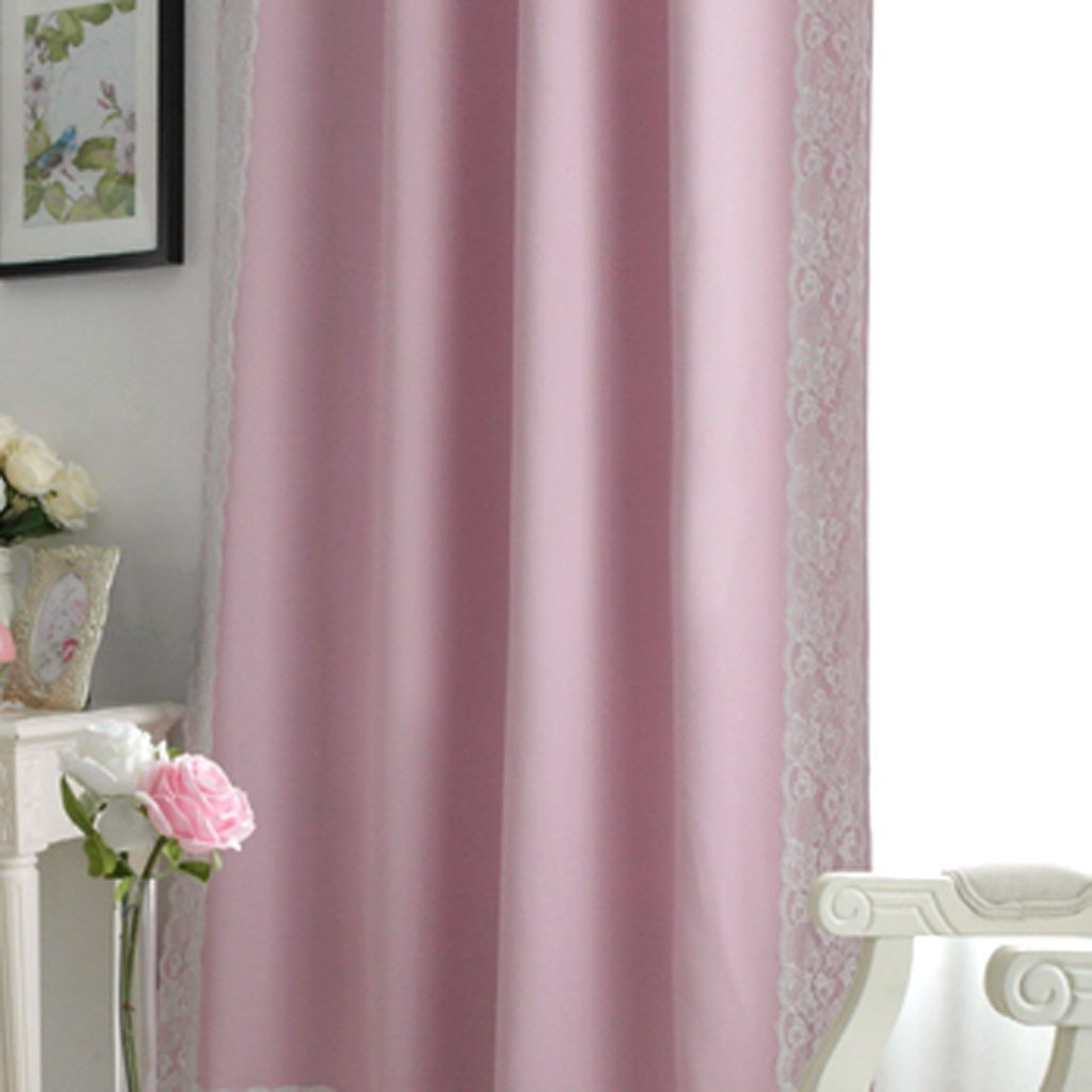 Light Pink Blackout Curtains Thermal Blackout Eyelet Ring Top Curtain Home Decor Light Pink