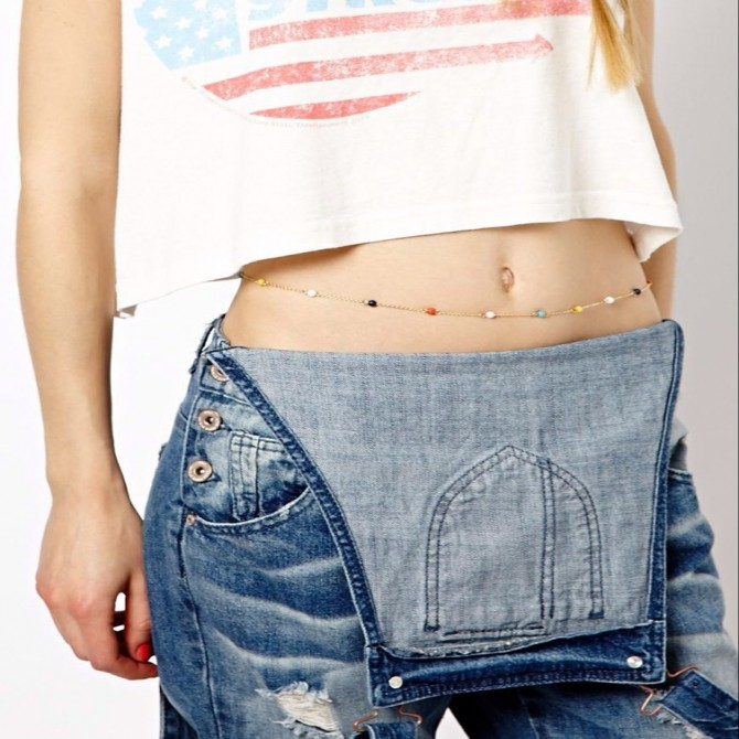 Multi Color Belly Waist Chain Jewelry