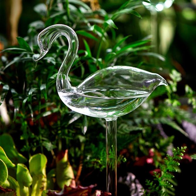 Swan Self Watering Globe