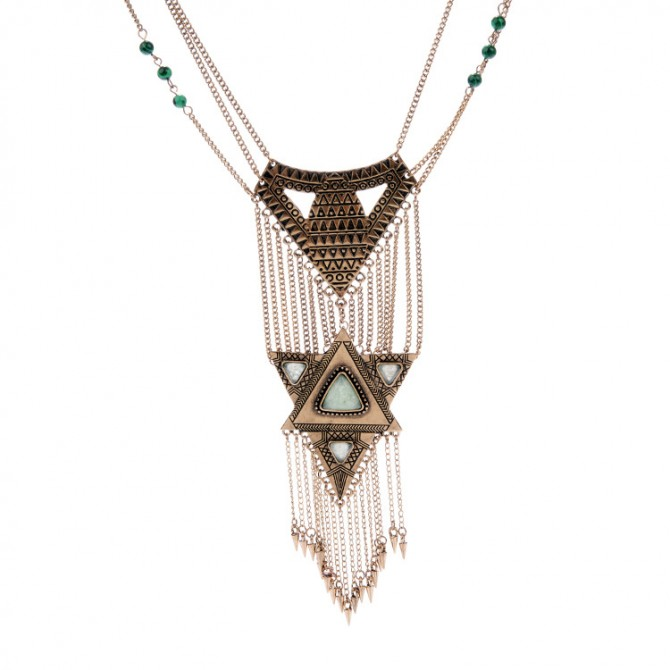 Layered Vintage Chain Necklace