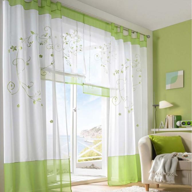 Spring Symphony Sheer Curtain Set