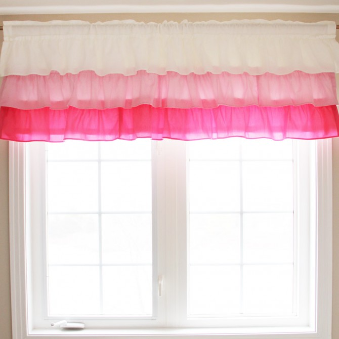 Pink Ruffled Valance-Clearance Sale