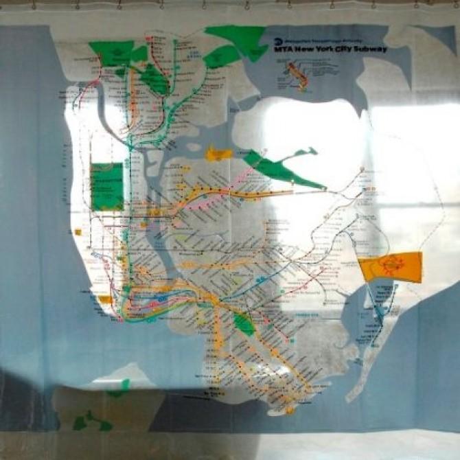 Ny Subway Map Shower Curtain.New York City Subway Map Shower Curtain