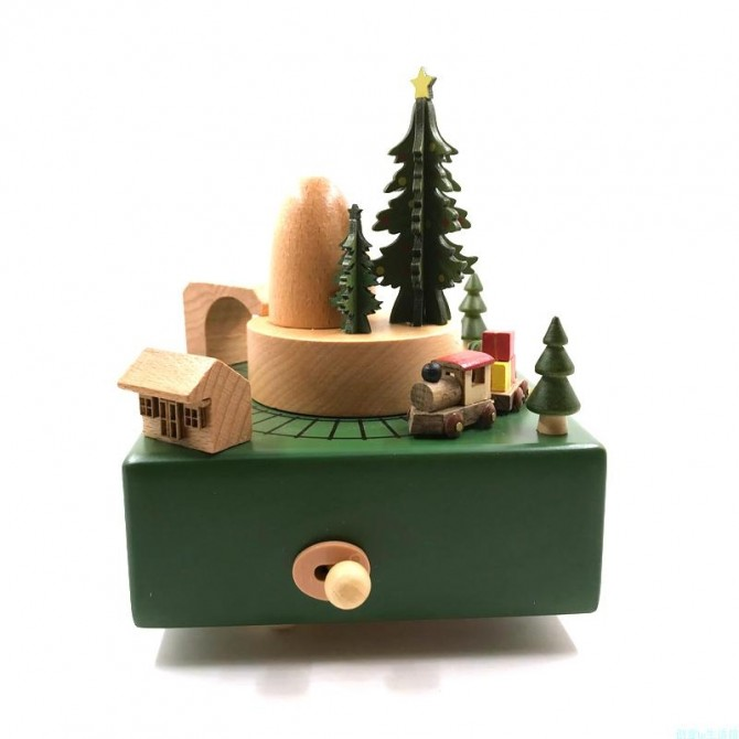 Christmas Choo Choo Train Music Box