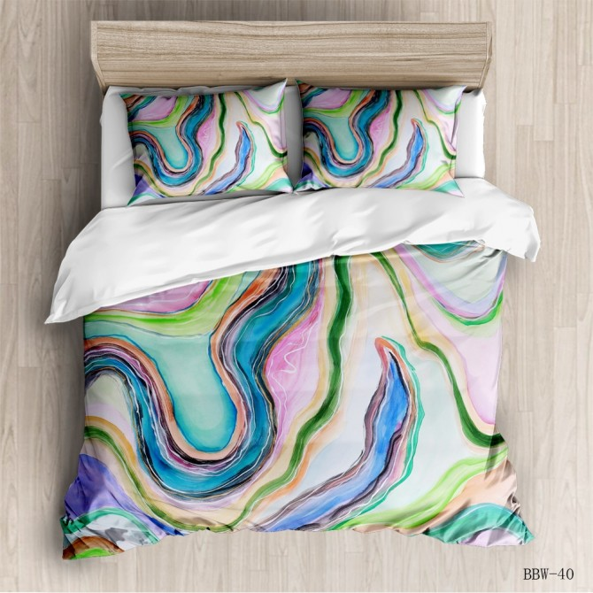 Abstract Fashion Duvet Cover Set C