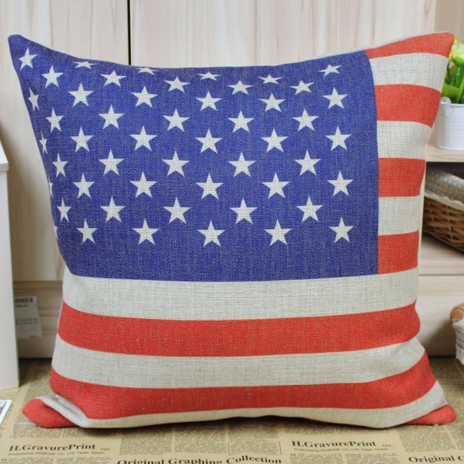 American Flag Cushion Cover