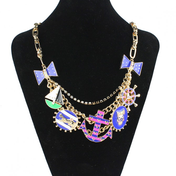 Anchor Multi-Charm Necklace