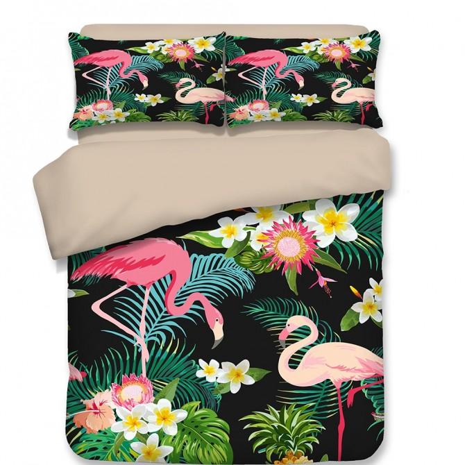 Flamingo Zoo Duvet Cover Set
