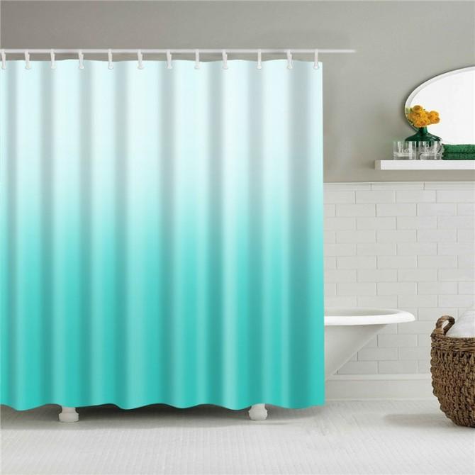Aqua Gradient Shower Curtain