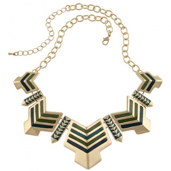 Egyptian Green Arrow Necklace