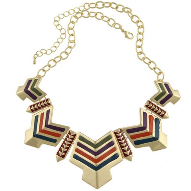 Egyptian Orange Arrow Necklace