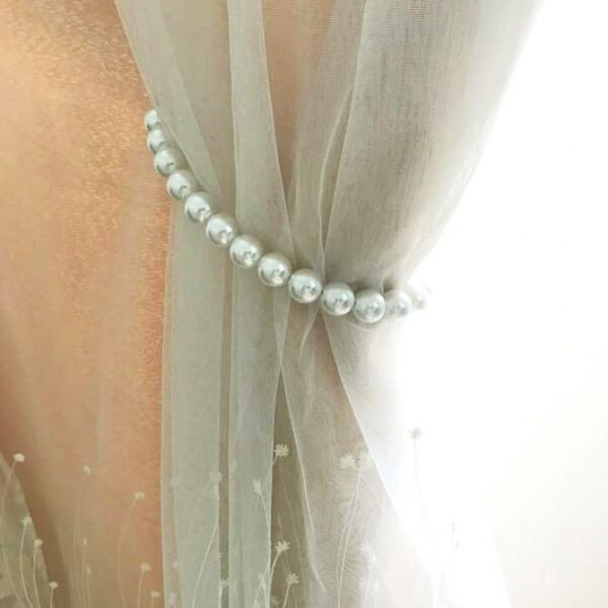 Pearl Magnetic Curtain Tieback