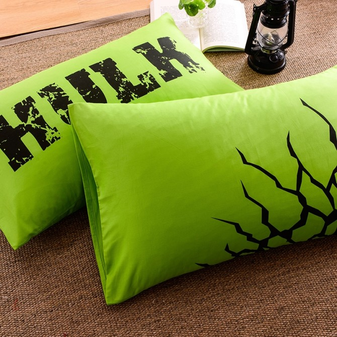 Glow in Dark Green Hulk Duvet Cover Set