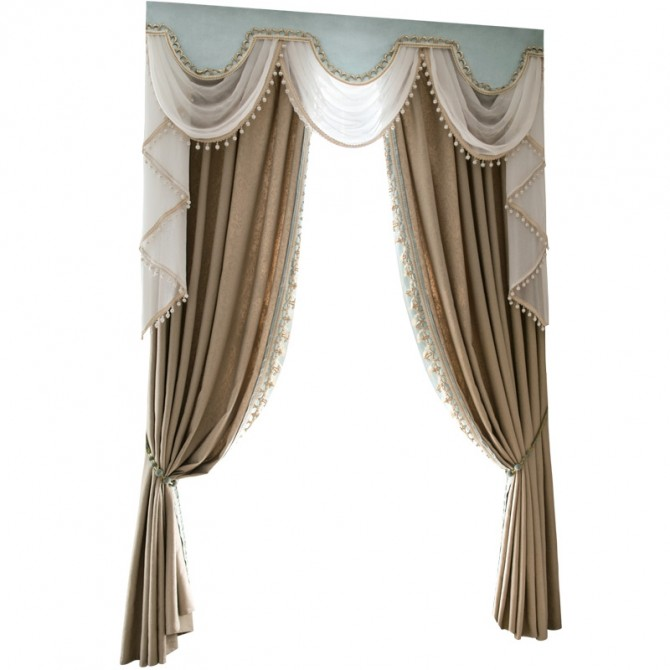 Swag Tails Valance Curtain Set