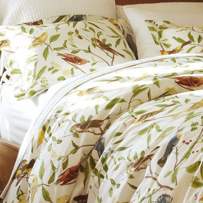 Bird Motif Duvet Cover Set