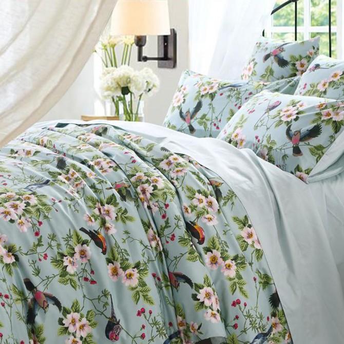 set piece bird cute floral cover duvet print