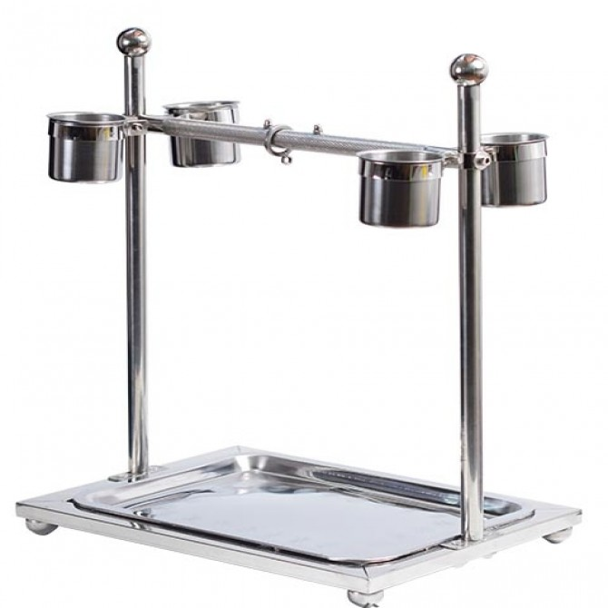 Portable Stainless Steel Bird Stand