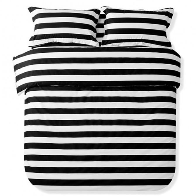 Black Stripe Duvet Cover Set