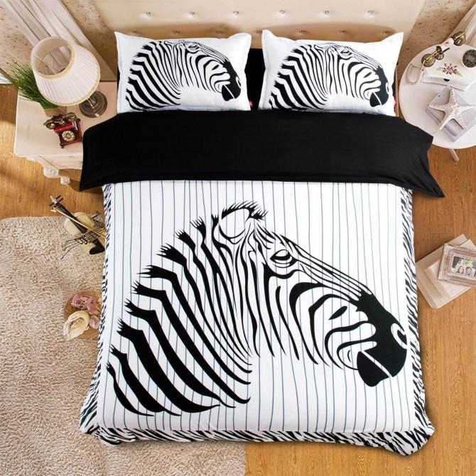 Zebra Stripe Duvet Cover Set
