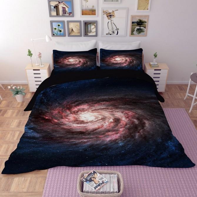 Galaxy Stars Duvet Cover Set