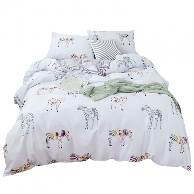 Zebra Duvet Cover Set