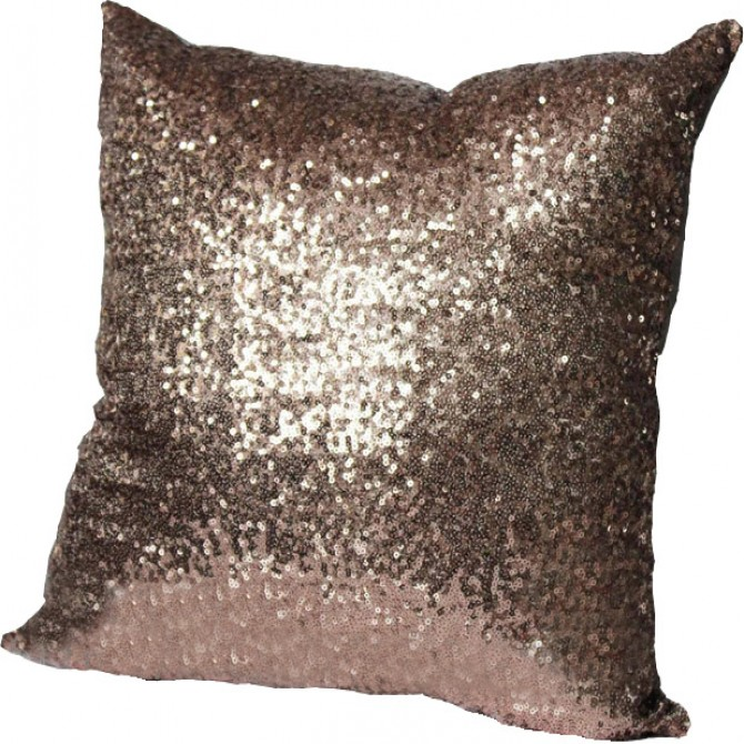 Champagne Sequin Cushion Cover