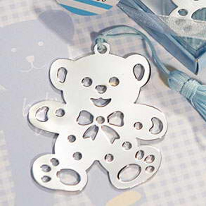 Blue Baby Teddy Bear Bookmark