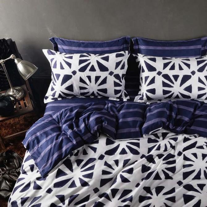 Blue Boho Duvet Cover Set